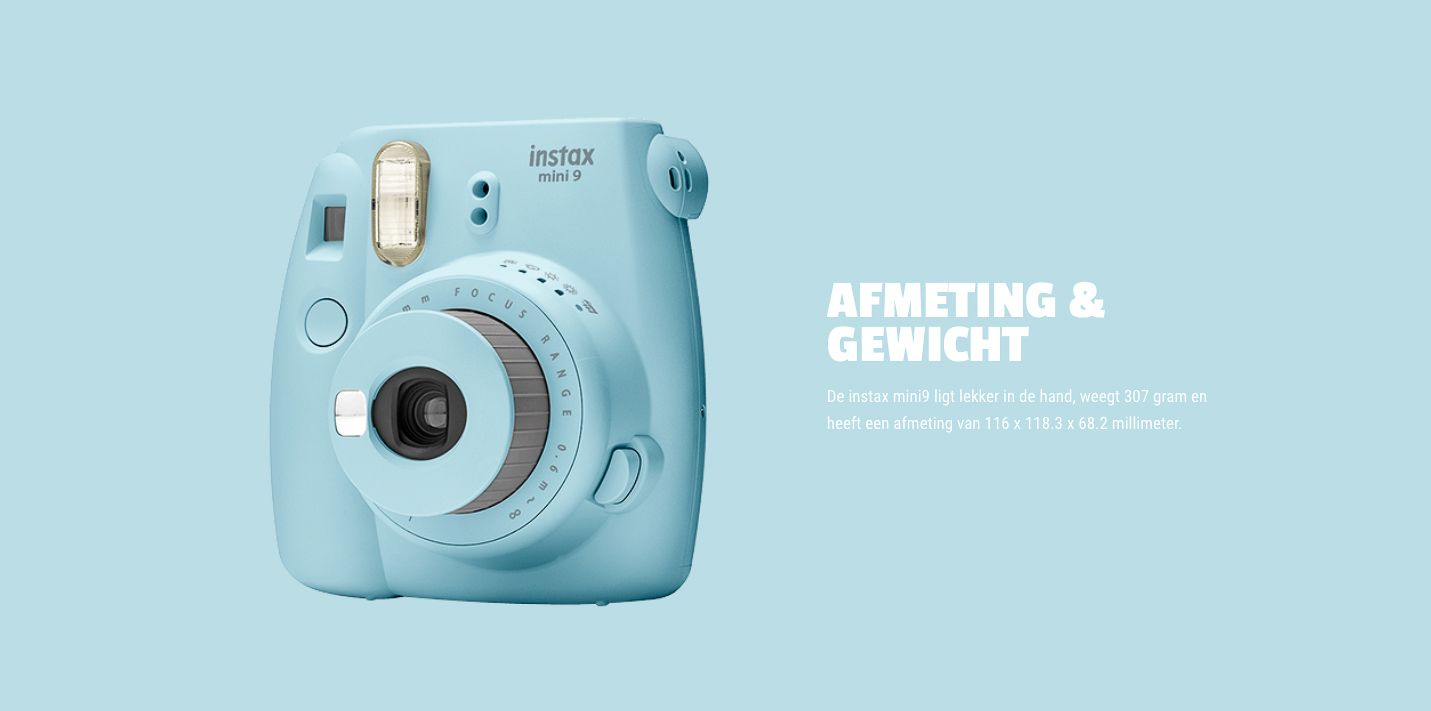 Fuji Instax mini 9 lichtblauw