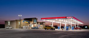 South Texas Exxon at dusk