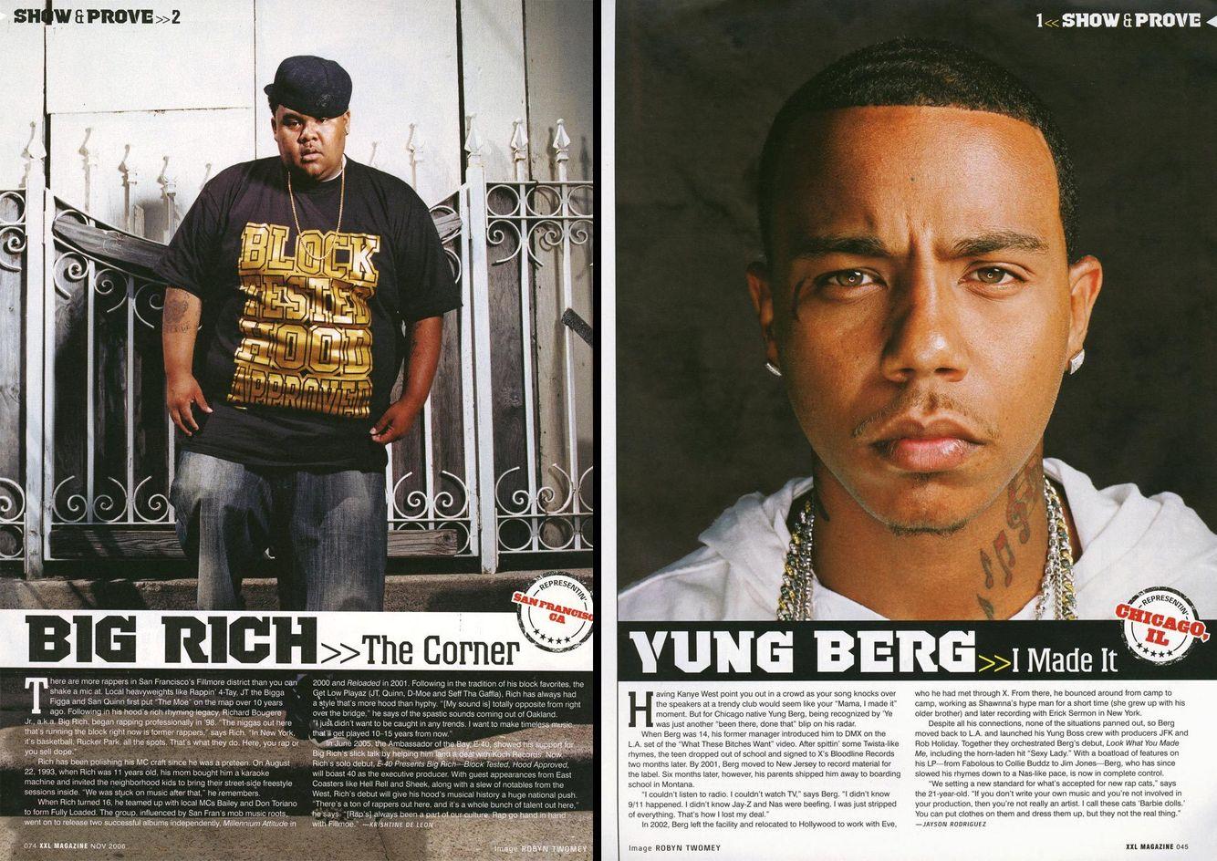 Big Rich, San Francisco, CA  /  Yung Berg, Los Angeles, CA