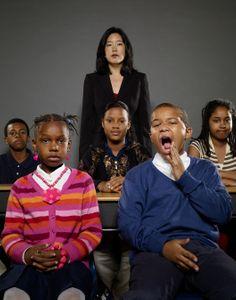 Michelle Rhee with kids, Washington D.C.