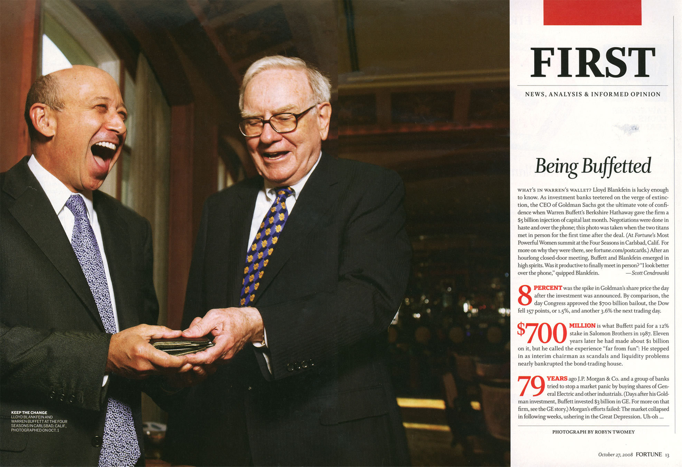 Lloyd Blankfein and Warren Buffett, Dana Point, CA