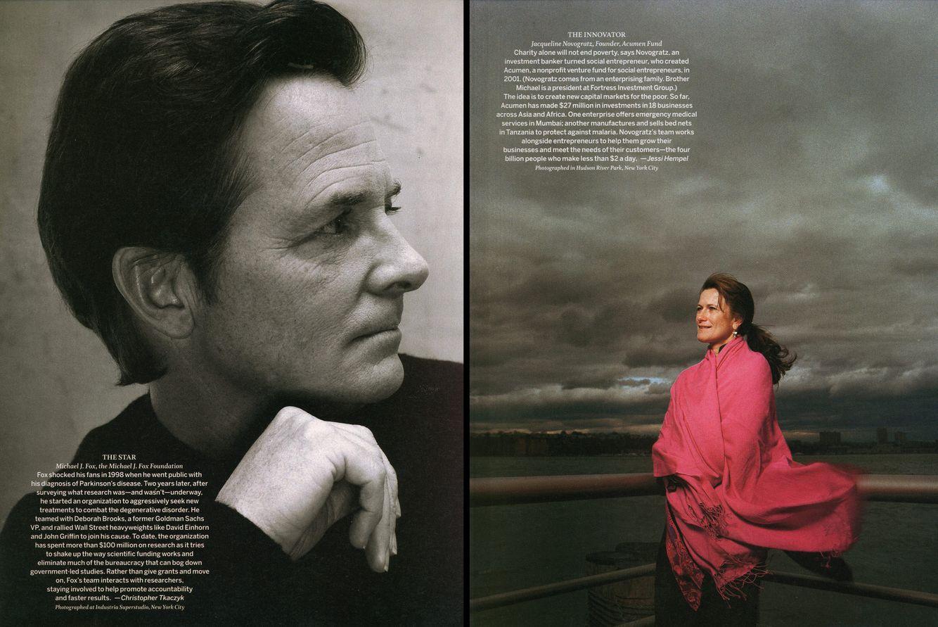 Michael J. Fox, New York, NY  /  Jacqueline Novogratz, New York, NY