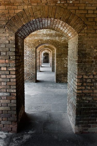 ARCHWAYS, FORT JEFFERSONDRY TORTUGAS NATIONAL PARK, FLORIDAIMAGE # 11313
