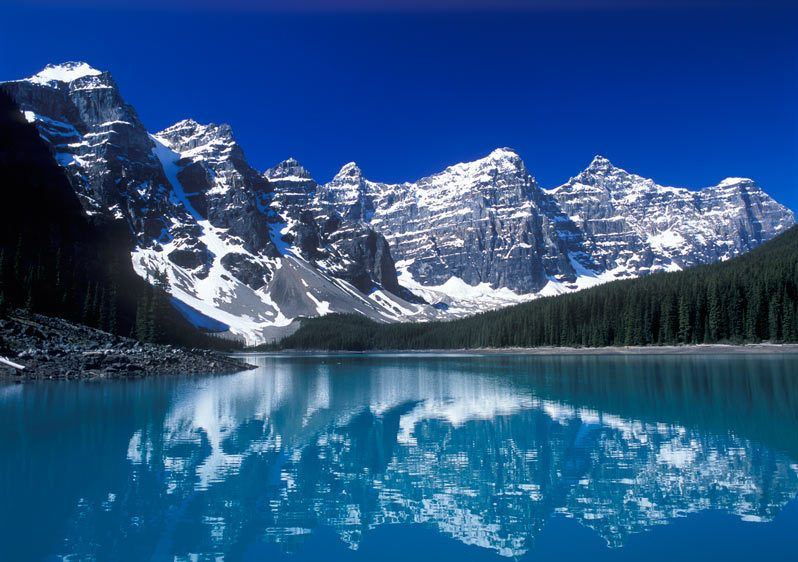 MORAINE LAKEBANFF NATIONAL PARK, ALBERTA, CANADAIMAGE # 11264
