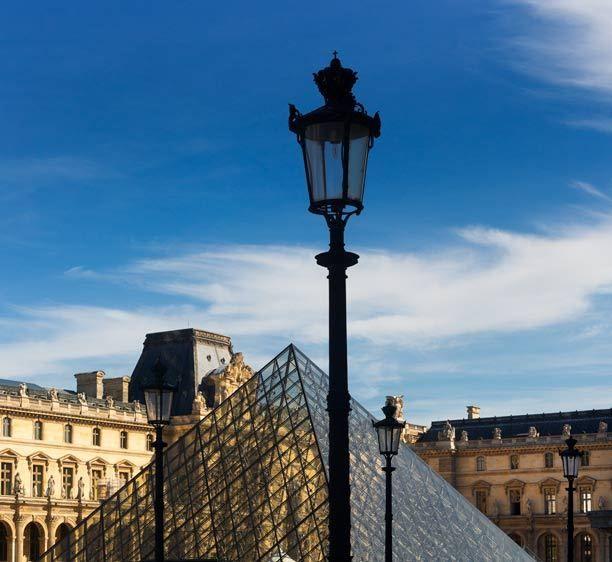 Lamp, The Louvre, Paris, France