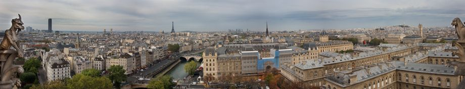 View of Paris, from Notre Dame, France