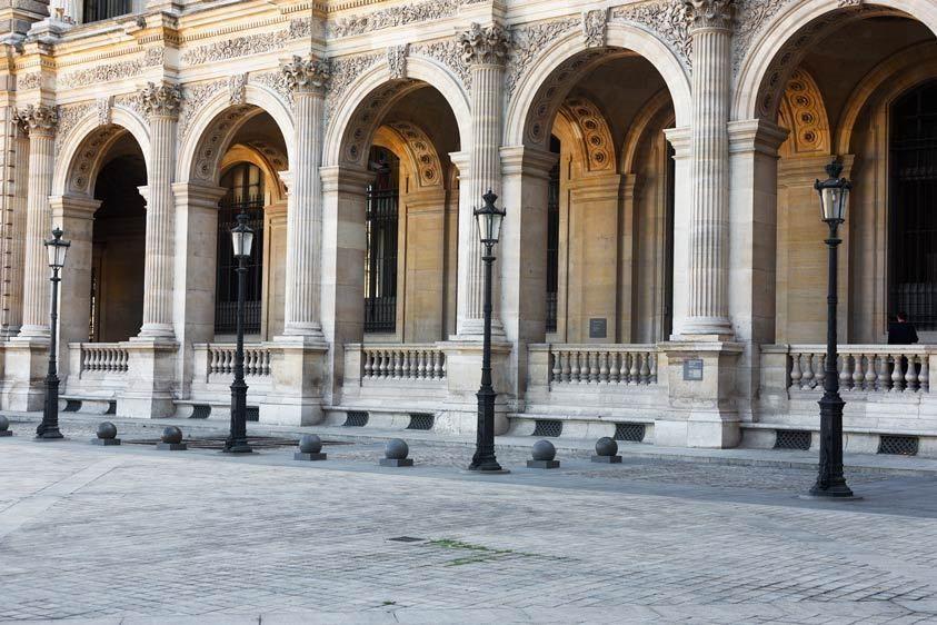 Lamps, Arches, The Louvre, Paris, Frnce