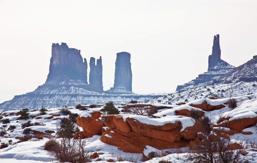 BUTTES AND SNOWMONUMENT VALLEY, UTAHIMAGE # 12032