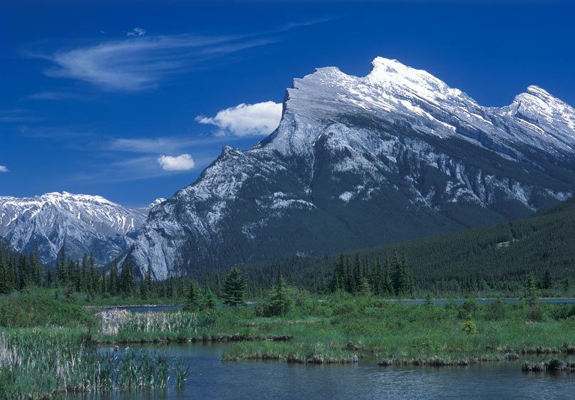 RUNDLE MOUNTAIN, VERMILLION LAKEBANFF NATIONAL PARK, ALBERTA, CANADAIMAGE # 11265