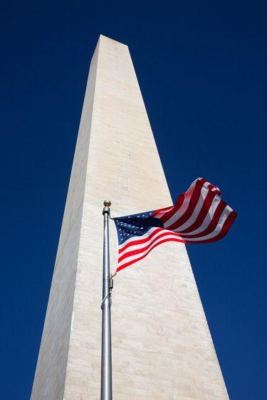 FLAG, WASHINGTON MONUMENTWASHINGTON, D.C.IMAGE # 12253