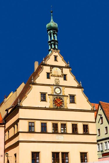 CLOCK TOWERROTHENBURG OB DER TAUBER, GERMANYIMAGE # 11623