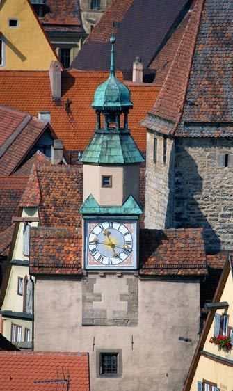ROOFTOPS FROM RODER GATEROTHENBURG OB DER TAUBER, GERMANYIMAGE # 11629