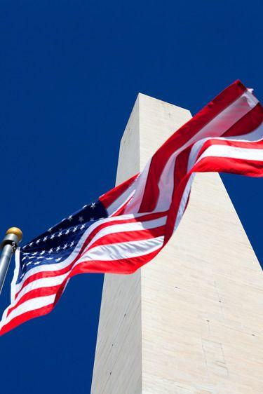 FLAG, WASHINGTON MONUMENTWASHINGTON, D.C.IMAGE # 12252