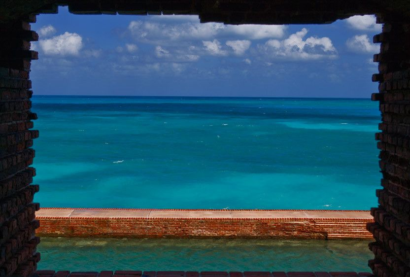 WINDOW, FORT JEFFERSONDRY TORTUGAS NATIONAL PARK, FLORIDAIMAGE # 12172