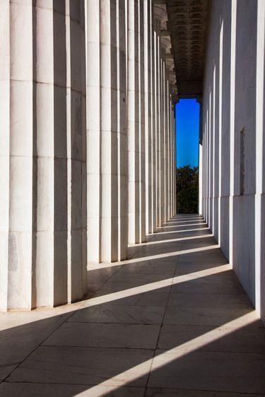 COLUMNS, LINCOLN MONUMENTWASHINGTON, D.C.IMAGE # 12257