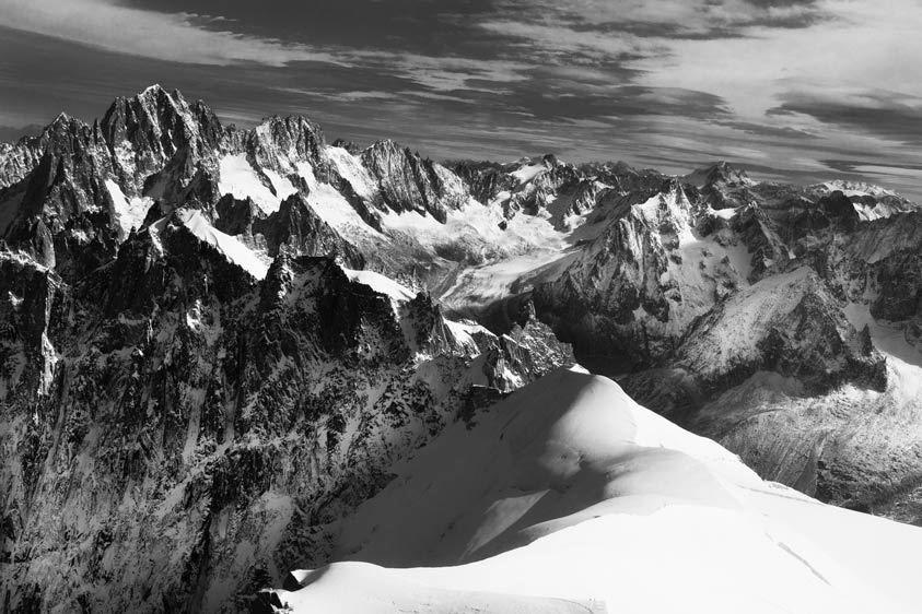 Mont Blanc from Aiguille du Midi, Chamonix, France