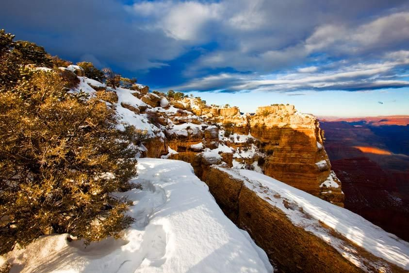 SNOW, MORAN POINTGRAND CANYON NATIONAL PARK, ARIZONAIMAGE # 11789