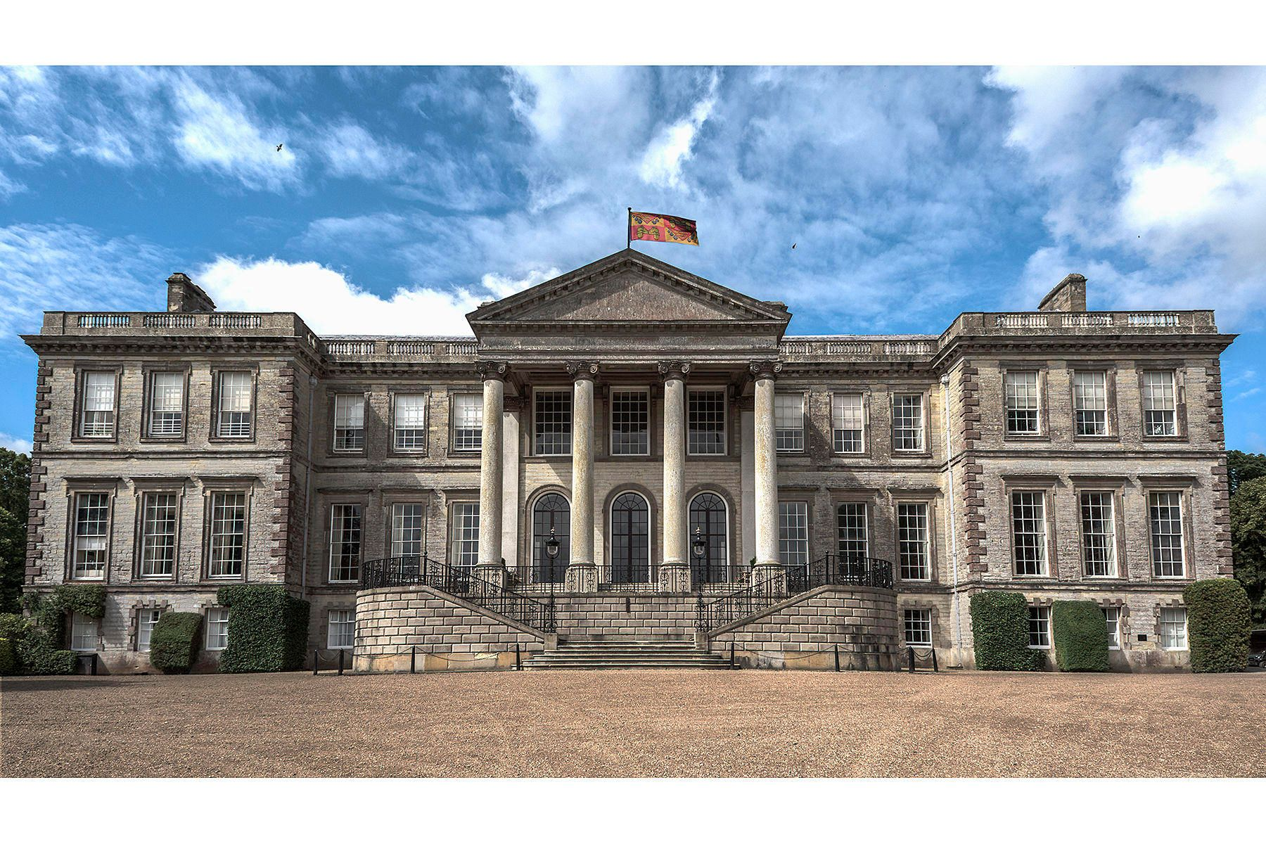 Ragley Hall - The Palladian House designed by Robert Hook is the Home of Lord and Lady Hertford . A major tourist attraction and venue for great events throughout the year.