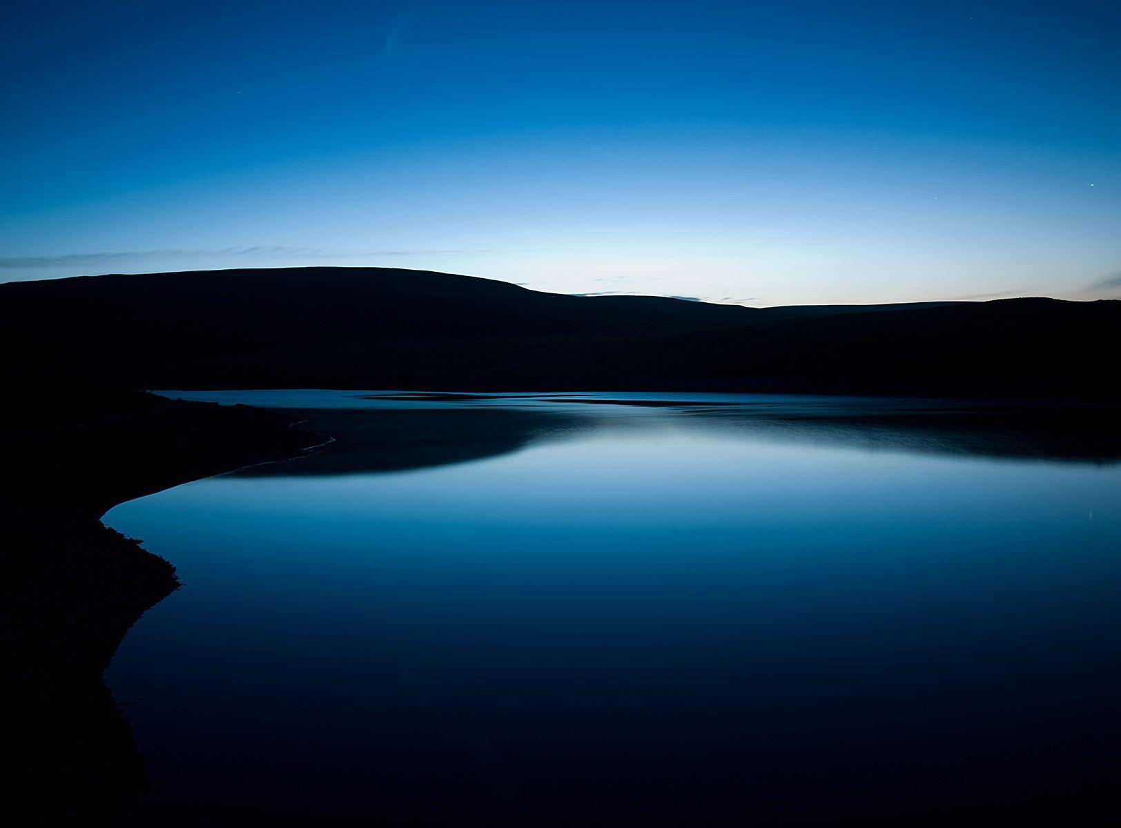 Elan Valley setting sun