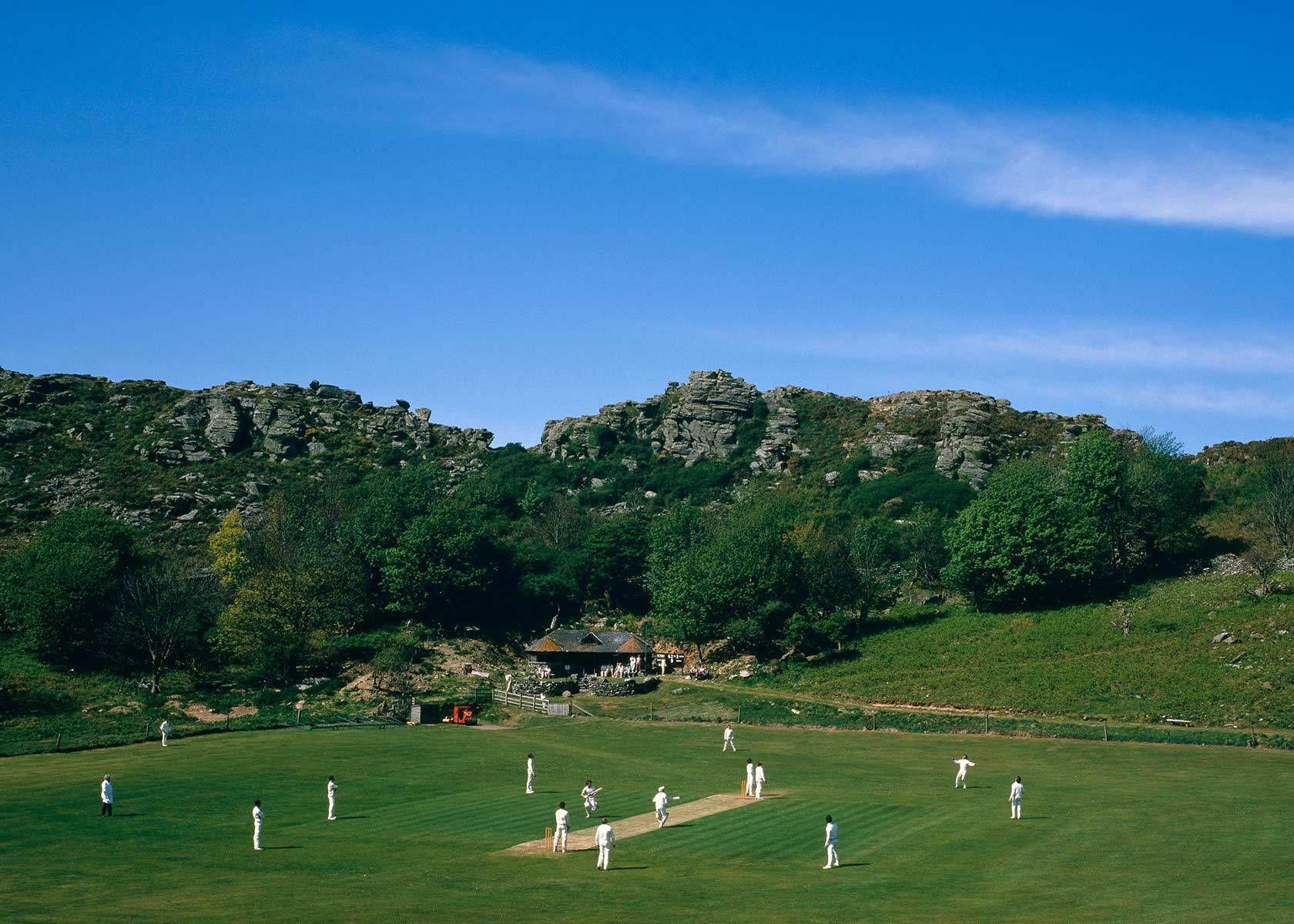 Devon valley of rocks cricket