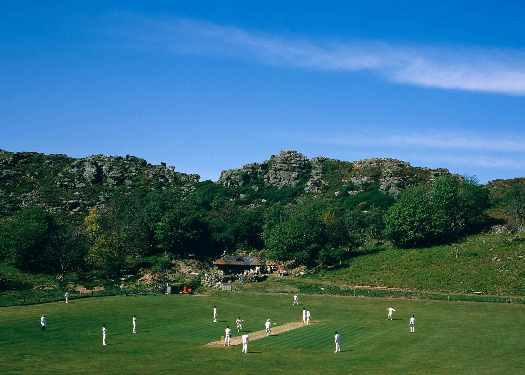 Devon valley of rocks cricket
