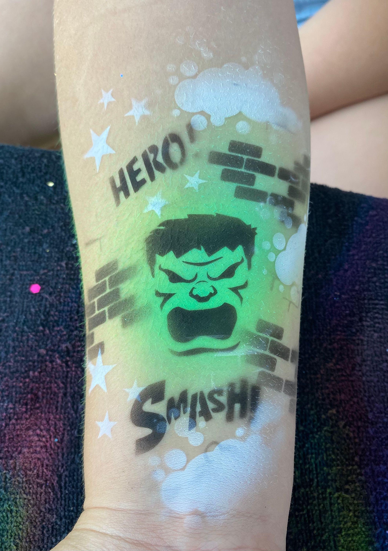 Airbrush tattoo - Superhero