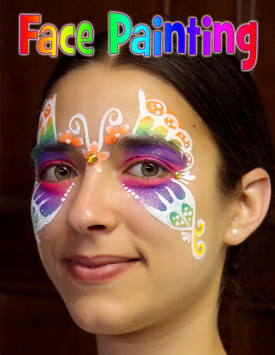 Chicago-Face Painting-Valery-Lanotte- Butterfly face painter chicago illinois