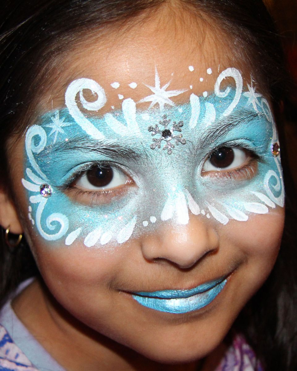 Winter Mask - Chicago Face Painting by Valery
