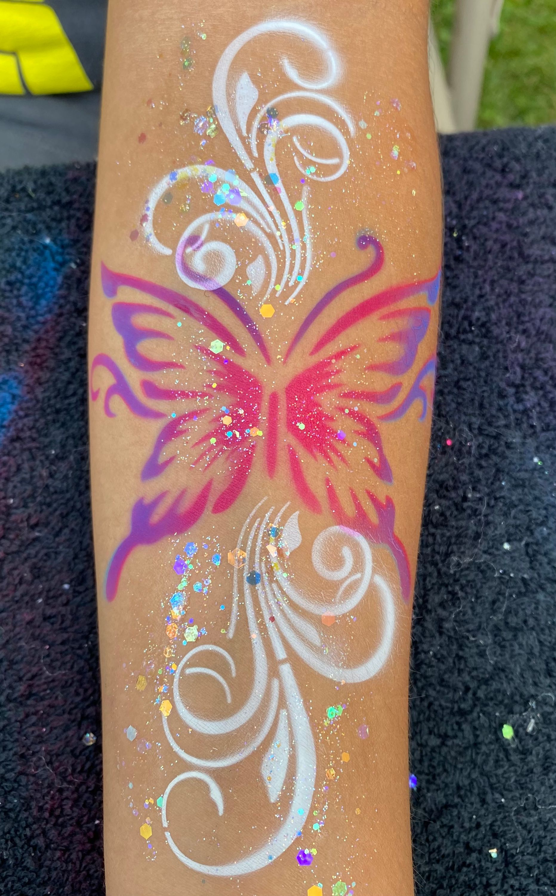 Airbrush tattoo - Butterfly