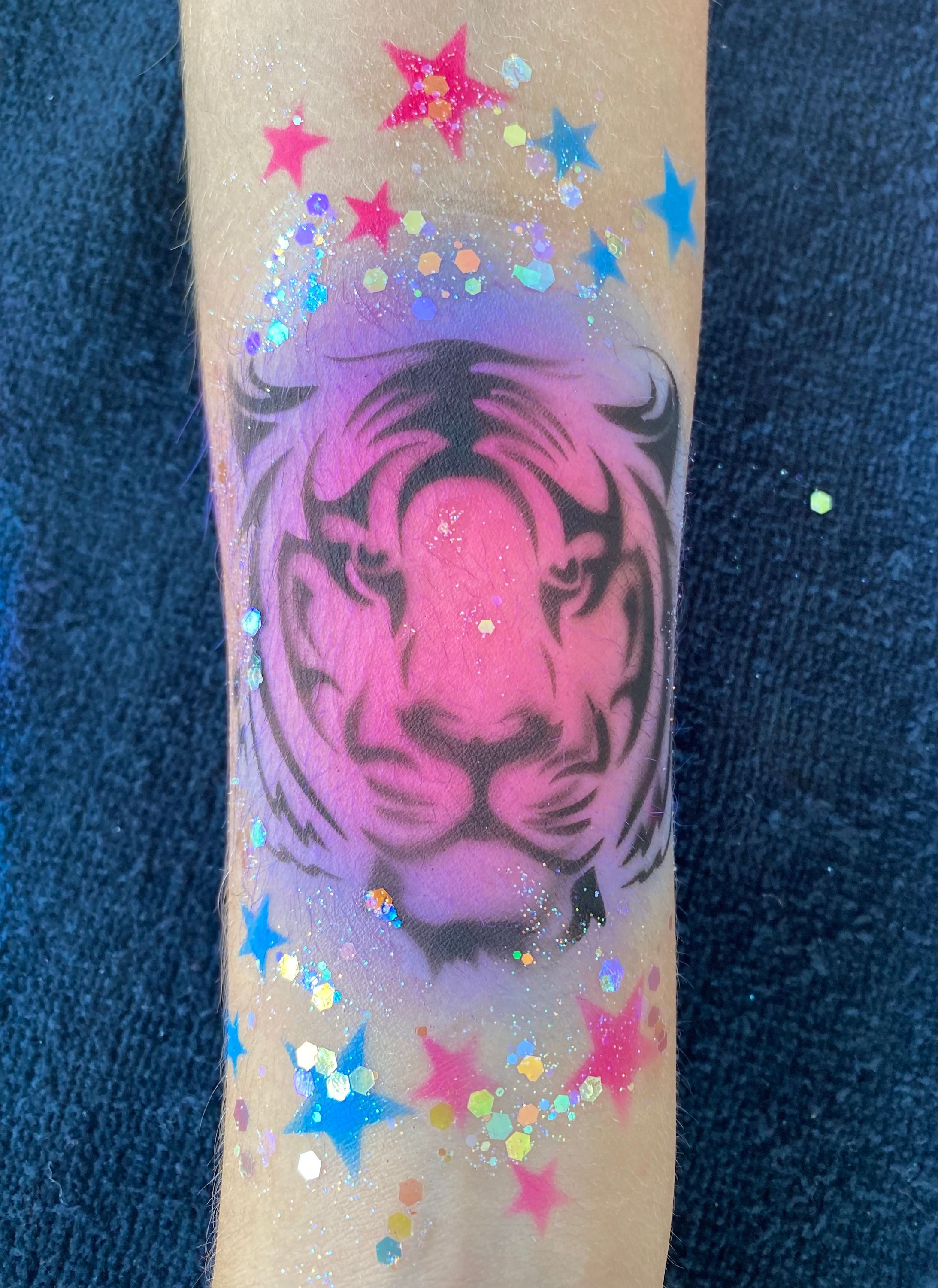 Face Painting by Valery - Airbrush Tattoo - Tiger
