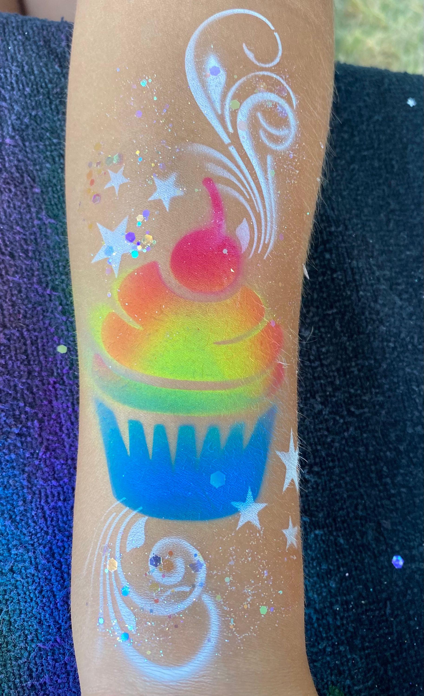 Airbrush Tattoo - Cupcake