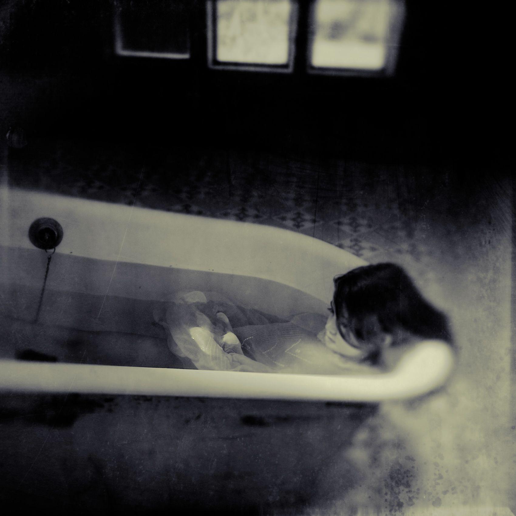 in tub