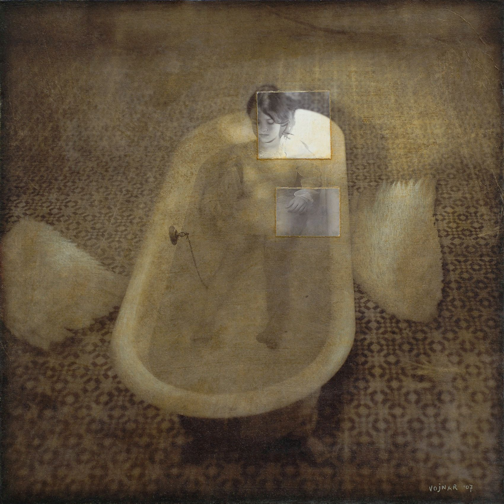 angel in tub
