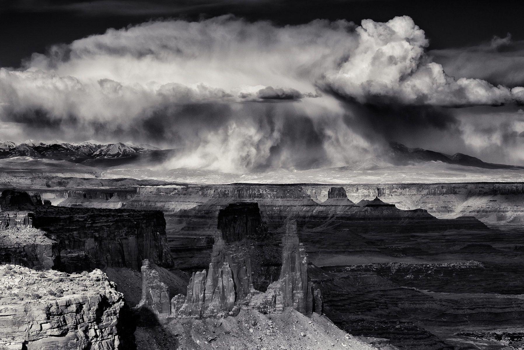 Snowstorm over the La Sal Mountains, Utah