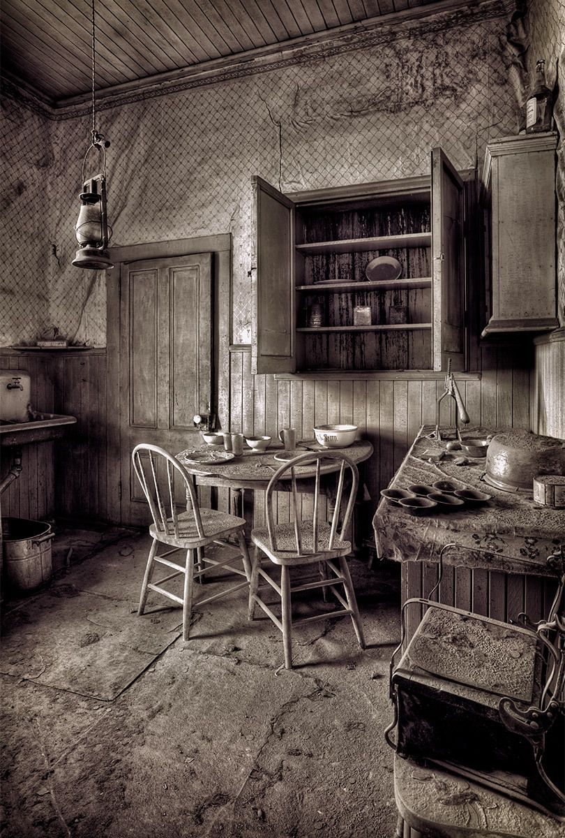 Kitchen, Miller House, Bodie Ghost Town, California