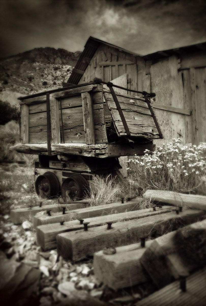 Mine Cart, Cerro Gordo Ghost Town, California