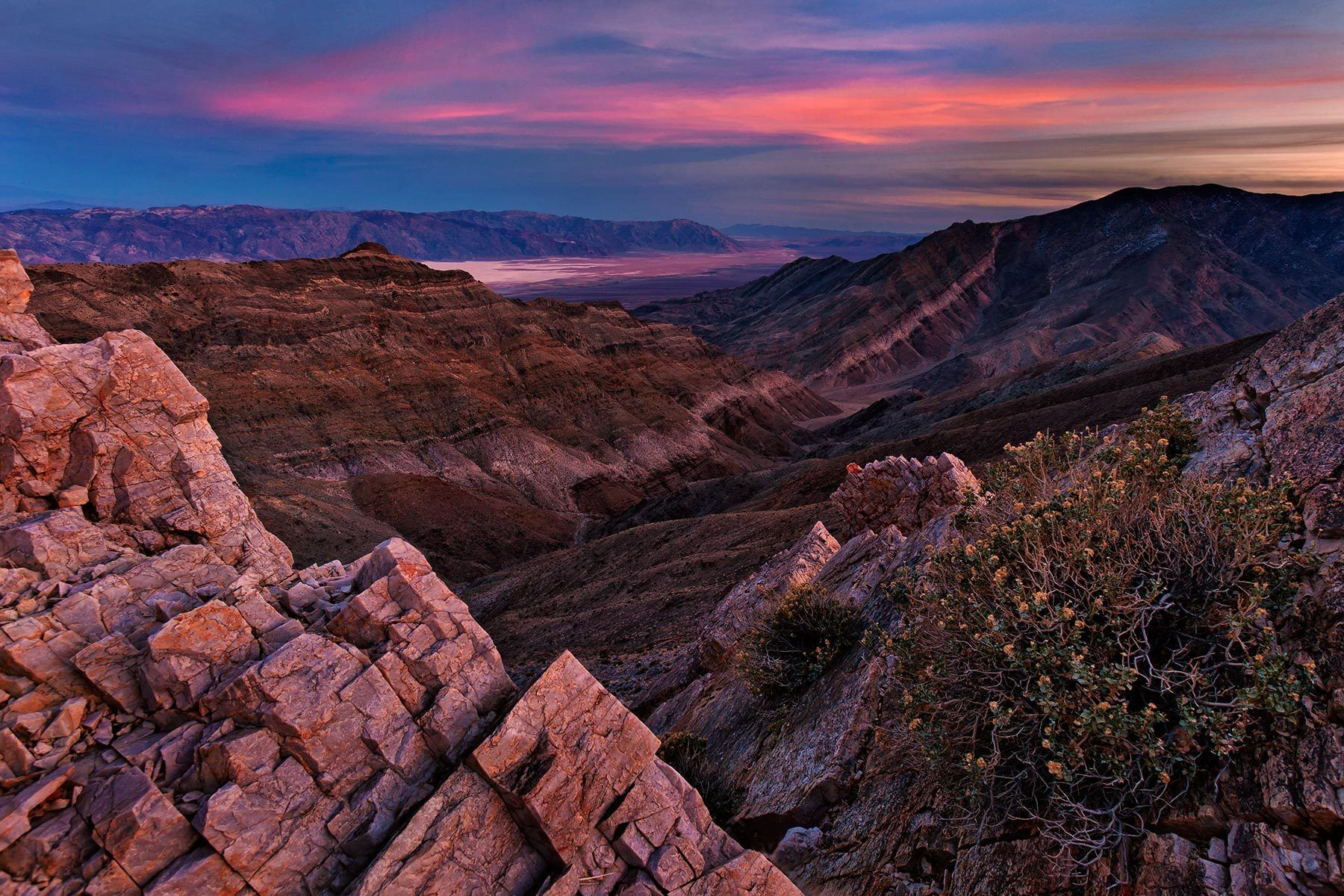 Twilight, Aguereberry Point, Death Valley National Park