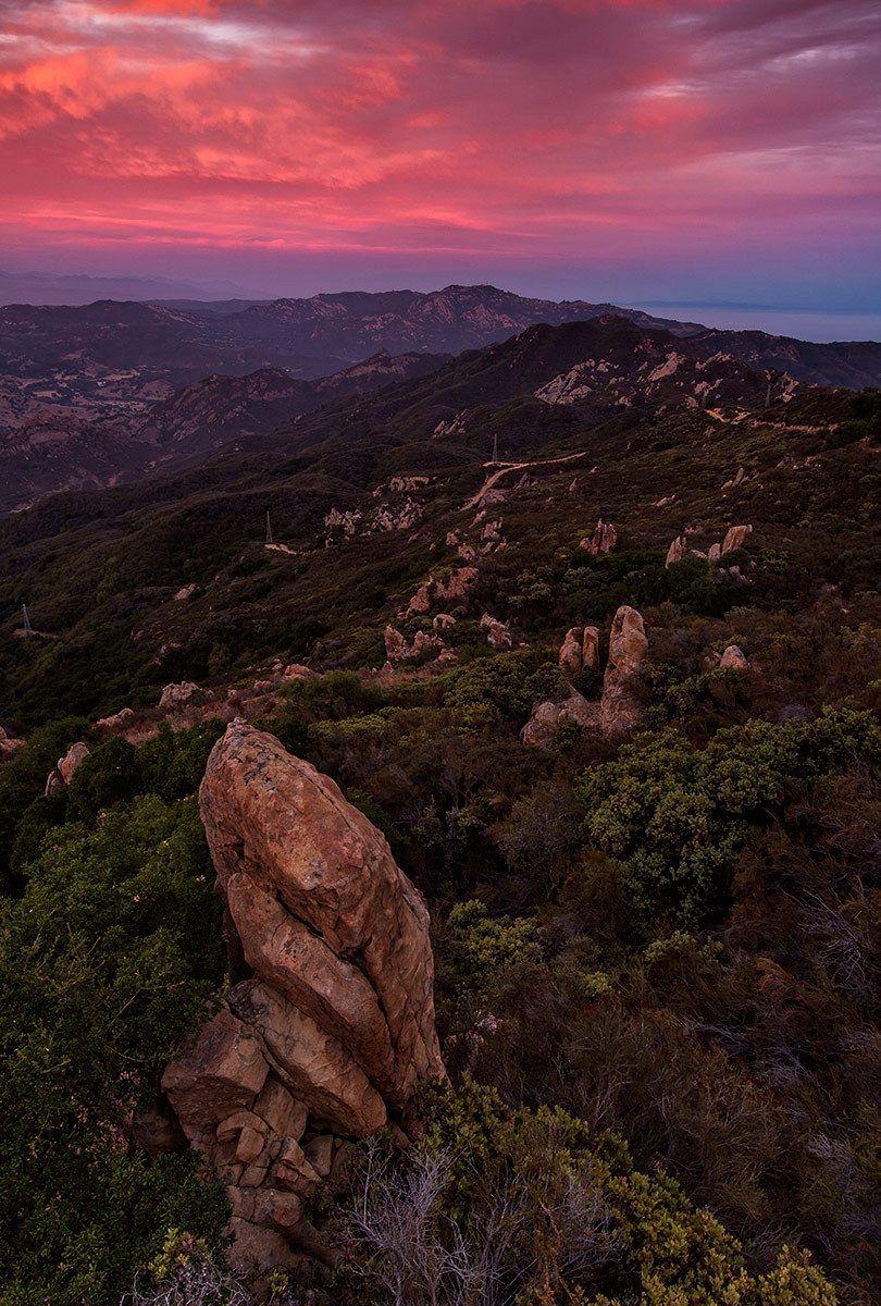 Sunset, Santa Monica Mountains, California