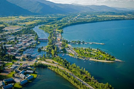 Sandpoint Idaho from above