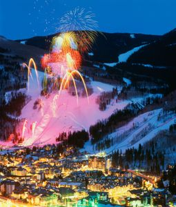 Fireworks over Vail