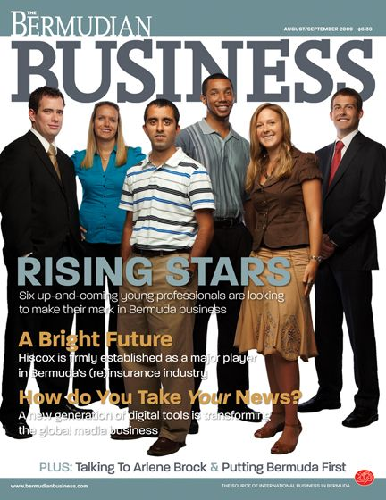 'Rising Stars' August/September 2009 IssueFor The Bermudian Business Magazine
