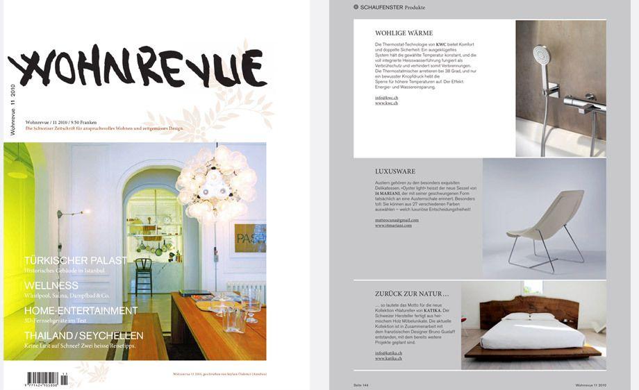 Wohnrevue magazine,   Germany