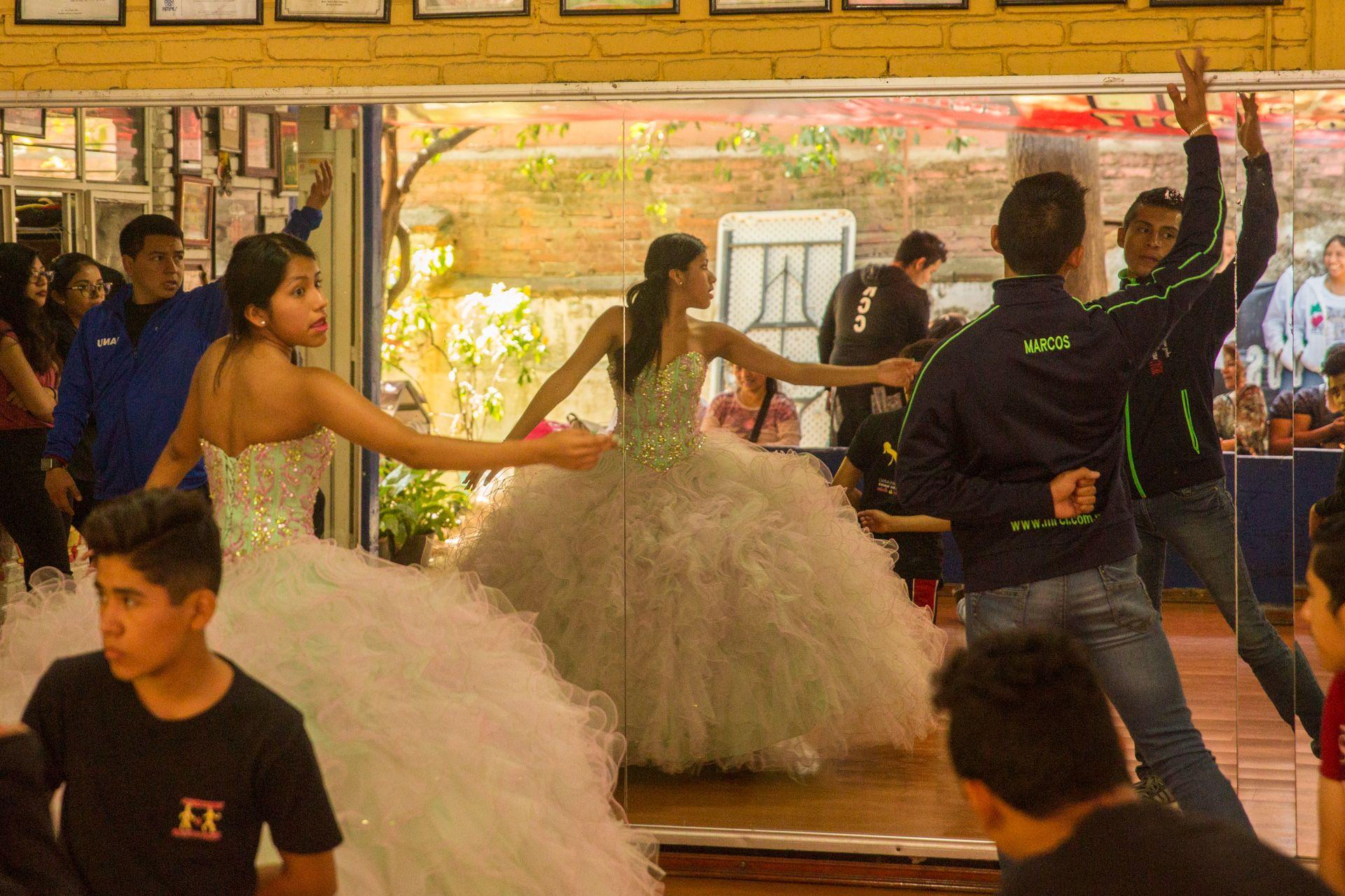Quinceanera Practice, Oaxaca Mexico