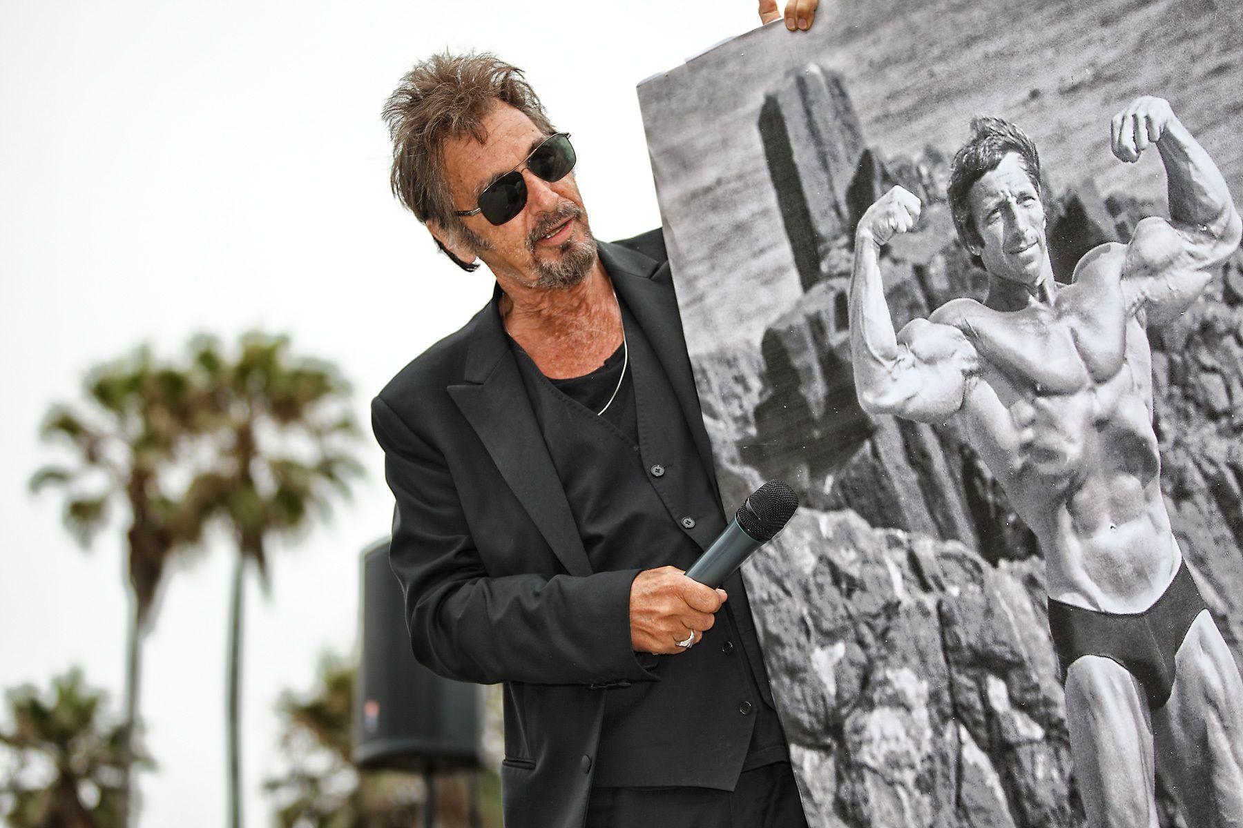 Al Pacino at Muscle Beach