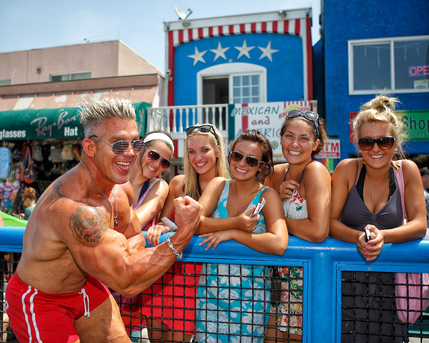 Bodybuilder Andy Haman at Muscle Beach