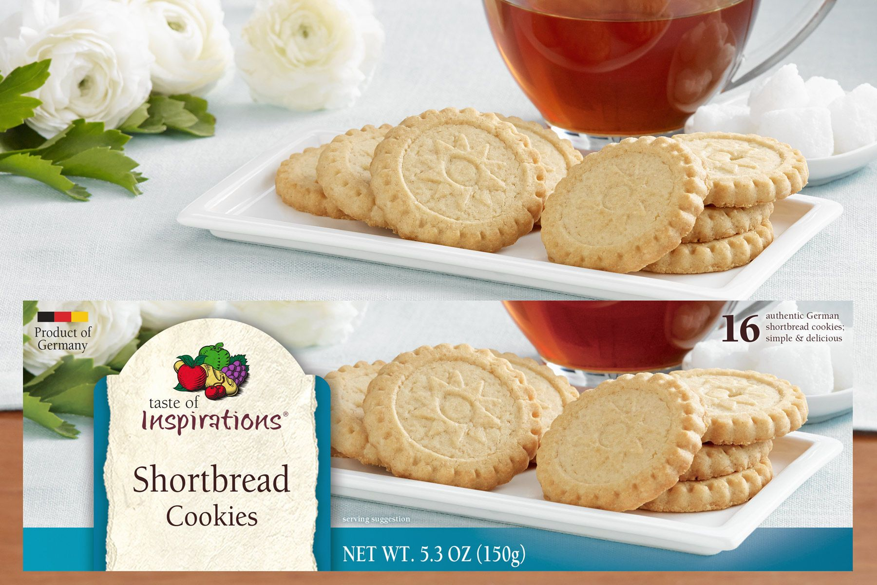 Taste of Inspirations Shortbread Cookies for DelHaize America