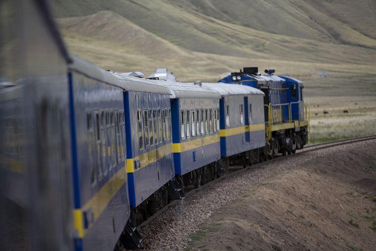 Train, Mountains, Peru