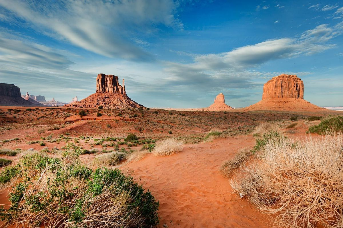 Monument Valley Navajo Nation Park in Utah and Arizona