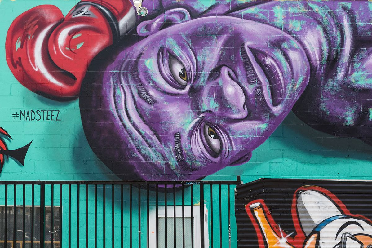 Mural in the Melrose District of Los Angeles, California