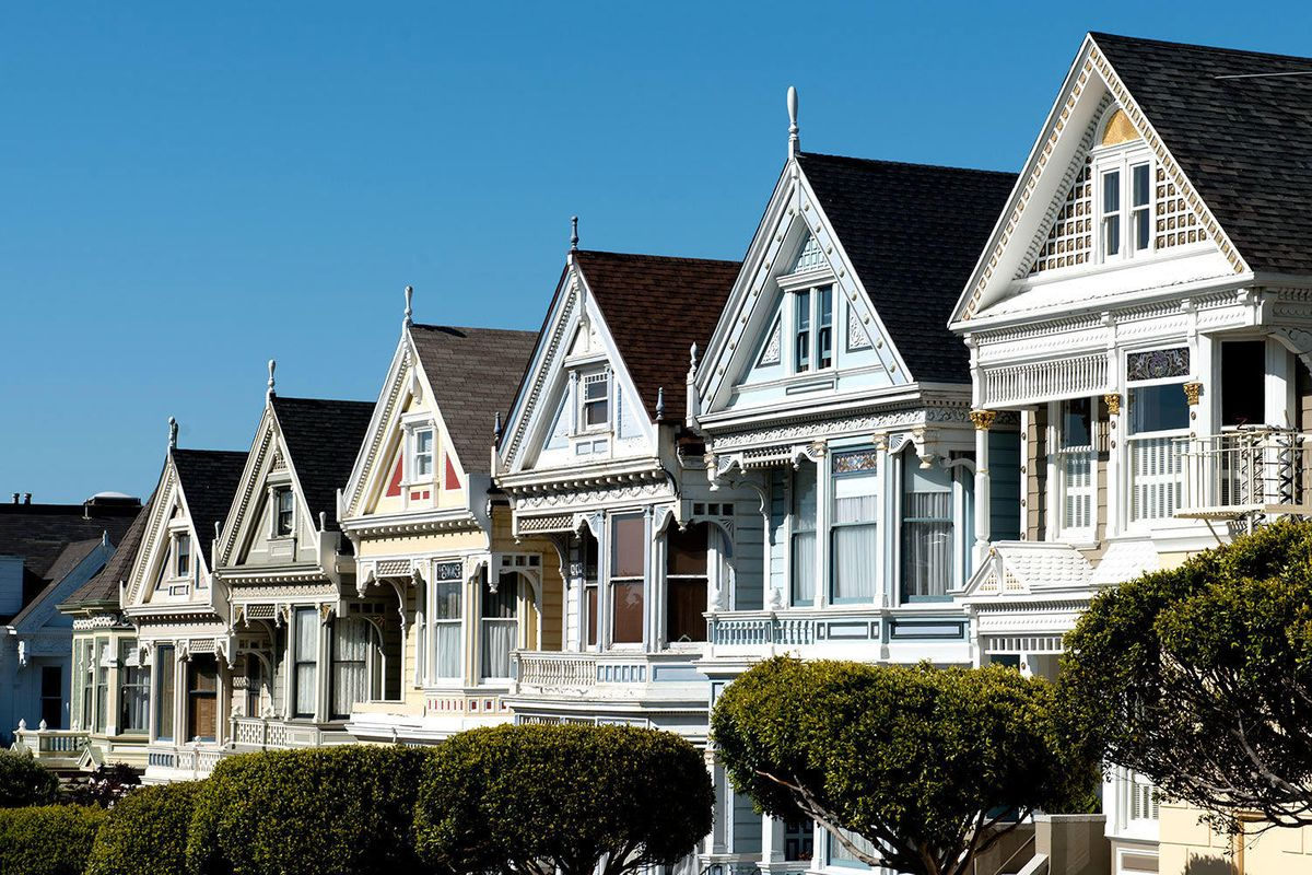 Historic Victorians in San Francisco, California